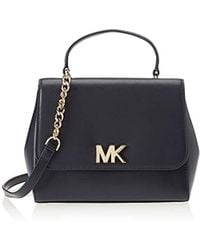 77722504ad4b Michael Kors Sloan Editor Large Admiral And Black Leather Shoulder ...
