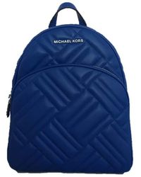 Michael Kors Abbey Medium Quilted Leather Backpack - Cobalt - Blau