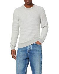 Tommy Hilfiger Honeycomb SLUB Sweater Sweatshirt - Grau