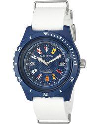Nautica - Analogique Quartz Montre avec Bracelet en Silicone NAPSRF002 - Lyst