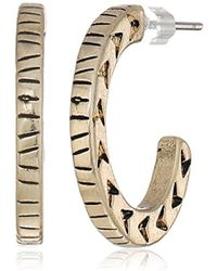 The Sak - S Small Etched C Hoop Earrings - Lyst