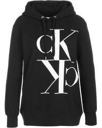 Calvin Klein Mirrored Monogram Hoodie Suéter - Negro