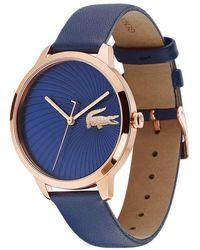 Lacoste Reloj Análogo clásico para Mujer de Cuarzo con Correa en Cuero 2001058 - Azul
