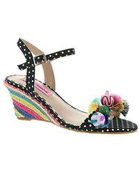 Betsey Johnson Koko Wedge Sandal - Multicolor