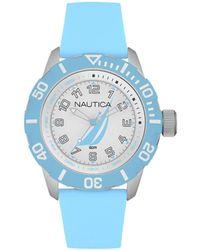 Nautica Orologio Analogico Quarzo Uomo con Cinturino in Gomma NAI08515G - Blu
