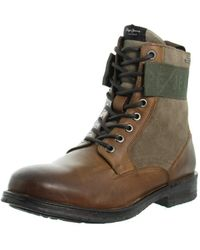 Pepe Jeans London Tom Cut Mix Rugged Desert Boots - Brown