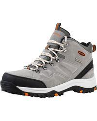 Skechers Relment Pelmo Chukka Waterproof Boot Grey/Orange 11 - Grigio