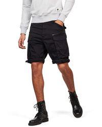 G-Star RAW Rovic Zip Relaxed 1/2-length Shorts Pantalones Cortos - Negro