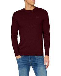Superdry S Label Crew Pullover Sweater - Lila