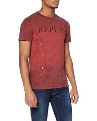 Replay M3176 .000.22974t T-shirt - Red