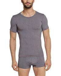 Schiesser Shirt 1/2 Unterhemd - Grau