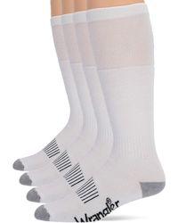 Wrangler Riggs Steel Toe Boot Work Crew Cotton Cushion Socks 4 Pair Pack - Black