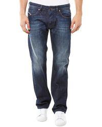 DIESEL Jeans Larkee 823G - Maschi, bleu foncé délavé, 31W x 32L - Blu