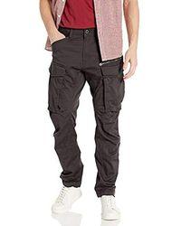 G-Star RAW Rovic Zip 3D Straight Tapered Pantalon para Hombre - Negro