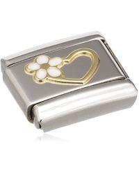Nomination Maillon pour bracelet composable - Acier inoxydable et Or jaune 18 - Métallisé