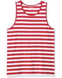 Amazon Essentials Slim-Fit Stripe Tank Top Novelty Tops - Rosso