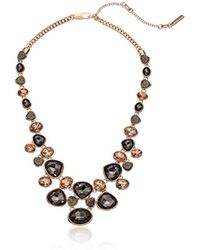 Kenneth Cole - Supercharged Collection Black Diamond, Blush And Druzy Stone Statement Frontal Necklace - Lyst