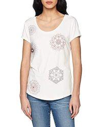 Desigual T-Shirt Short Sleeve Sonja Woman White, Camiseta para Mujer, (Blanco 1000), X-Small
