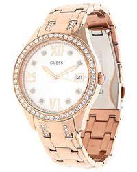 official photos 58187 154b4 Unisex Erwachsene Datum klassisch Quarz Uhr mit Edelstahl Armband W0848L3 -  Mettallic