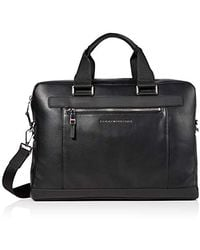Tommy Hilfiger Th Metro Computer Bag Purse, Black, 7x28x39 Centimeters (b X H X T)