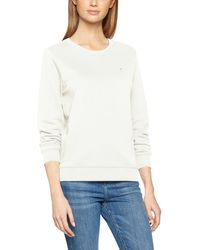 Tommy Hilfiger Flag Sweatshirt Sweat-Shirt - Blanc