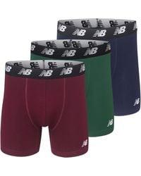 New Balance Cotton Performance Boxer Briefs - Multicolour
