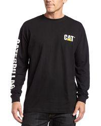 CAT Caterpillar Flex Layer Long Sleeve T-Shirt Mens Durable Work Top