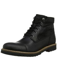 Rockport Marshall Rugged Cap Toe Boot Classic - Black