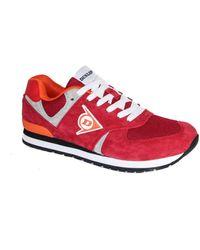 Dunlop Schuhe O2 rot aus Wildleder und Mesh