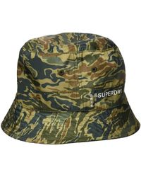 Superdry Nylon Reversible Bucket Hat Bob - Vert
