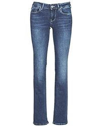 Pepe Jeans Piccadilly Jeans Femmes Blue/raw - Uk 8 (us 26/34) - Bootcut Jeans