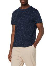 FIND T-Shirt Poche Poitrine - Bleu