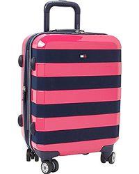"Tommy Hilfiger Rugby 21"" Expandable Hardside Spinner - Pink"