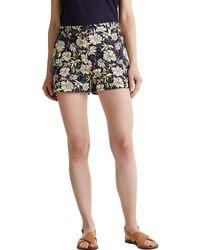 Esprit Shorts mit Blumen-Print - Blau