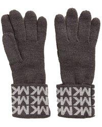 Michael Kors Knit Gloves Multi Grey Metallic