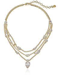Nicole Miller - Multichain Pear Collar Chain Necklace - Lyst