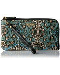 Buxton - Art Nouveau L-zip Expandable Wallet With Removable Strap, Black - Lyst
