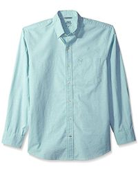 Izod - Oxford Solid Long Sleeve Shirt - Lyst