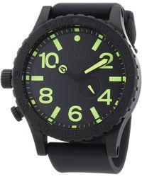 Nixon Quartz Watch A109638-00 A109638-00 With Plastic Strap - Black