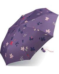 Esprit Easymatic Light Flower Rain Parasol de poche Mystical 97 cm - Violet