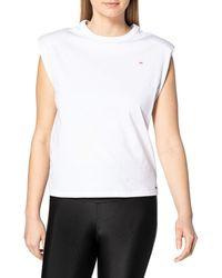 Mexx Sleeveless Loose Fit T-Shirt - Bianco
