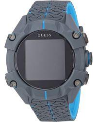 Guess Watches gents connect orologio Digitale Al quarzo con cinturino in Silicone C3001G3 - Grigio