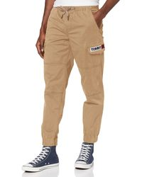 Tommy Hilfiger TJM Tapered Cuffed Cargo Pant Pantalones Deportivos - Neutro