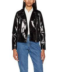 Miss Selfridge Vinyl Jacket - Black
