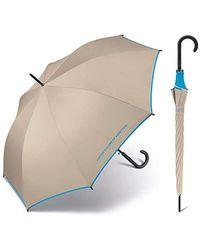 Benetton Ombrello da donna lungo automatico - Neutro