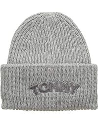 Tommy Hilfiger 's Logo Patch Beanie - Gray