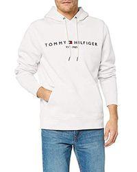 59105d9019b3 Tommy Logo Hoody Sudadera para Hombre - Blanco