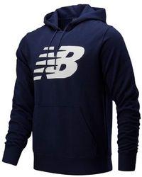 New Balance Core Fleece -Sweatshirt mit Kapuze MT83982 - Blau