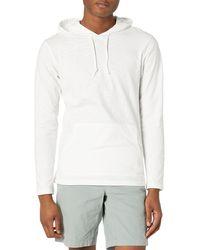 Goodthreads Lightweight Slub T-shirt Hoodie - White