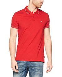 Wrangler Ss Pique Polo Shirt - Red
